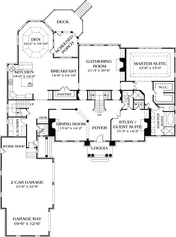 5 Bedroom Two Story Georgian Home With Twin Chimneys Floor Plan Luxury Plan House Plans Colonial Style Homes
