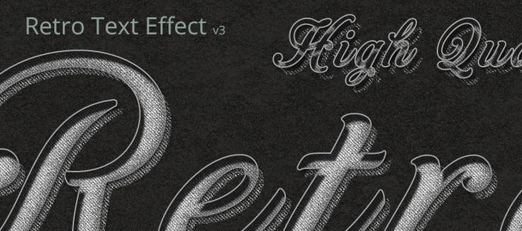 Here is a V3 of Retro Vintage PSD Text Effect. Easily convert any text, shape or other smart object to any of these amazing styles. Just type your text or paste your design to get it converted in seconds.