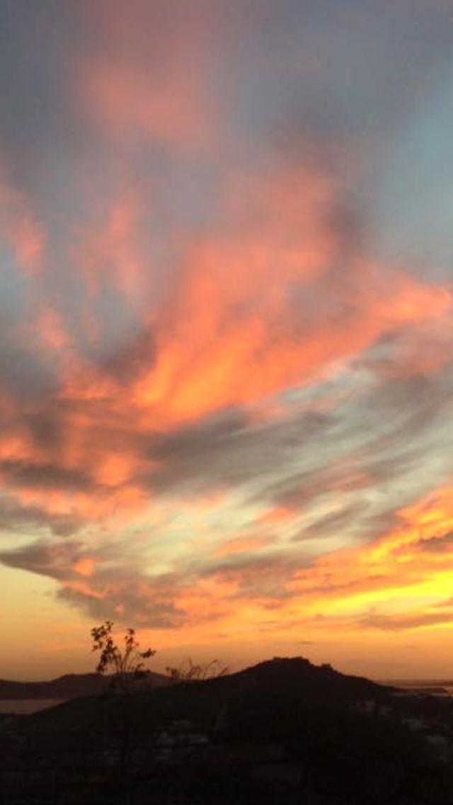 #Mykonos ,#October 2015! Magical #sunset ...