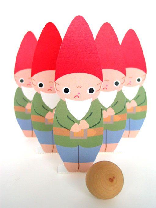 gnome bowling printables