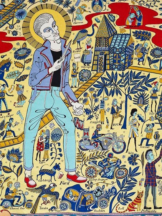 Grayson Perry - detail from Walthamstow tapestry