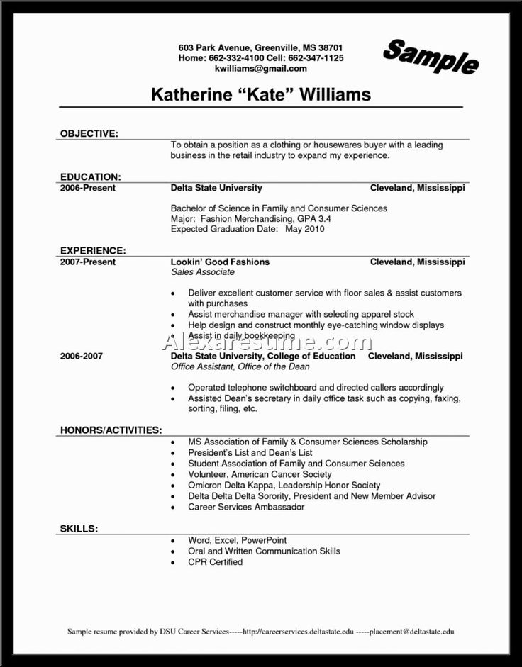 14 best Resume\/ job interviews images on Pinterest Career - resume for fast food