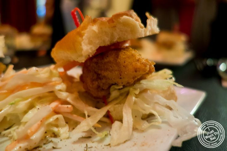 image of catfish Po'Boy at MASQ New Orleans inspired cuisine in NYC, New York