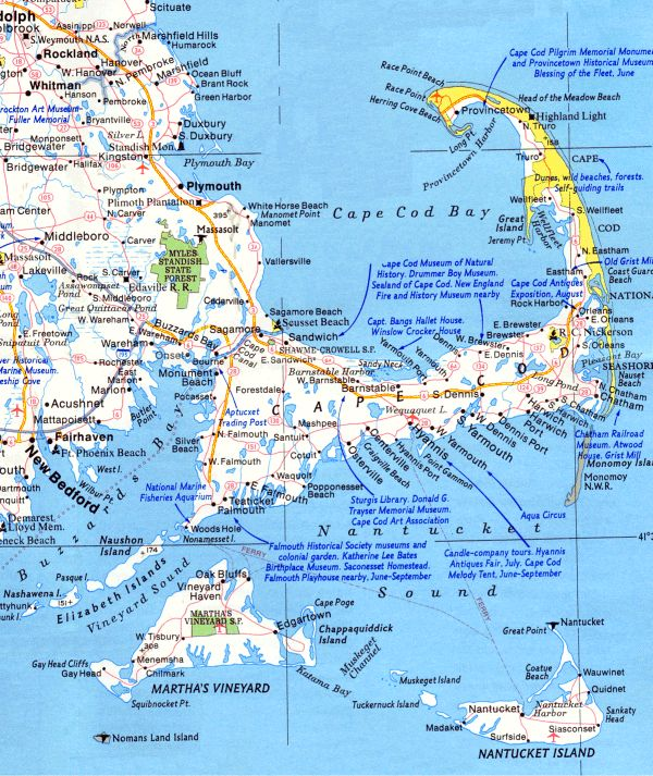 Cape Cod Bay Beaches map | Cape Cod