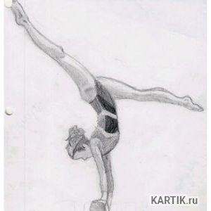 Как нарисовать гимнастку при помощи карандаша и акварели 10