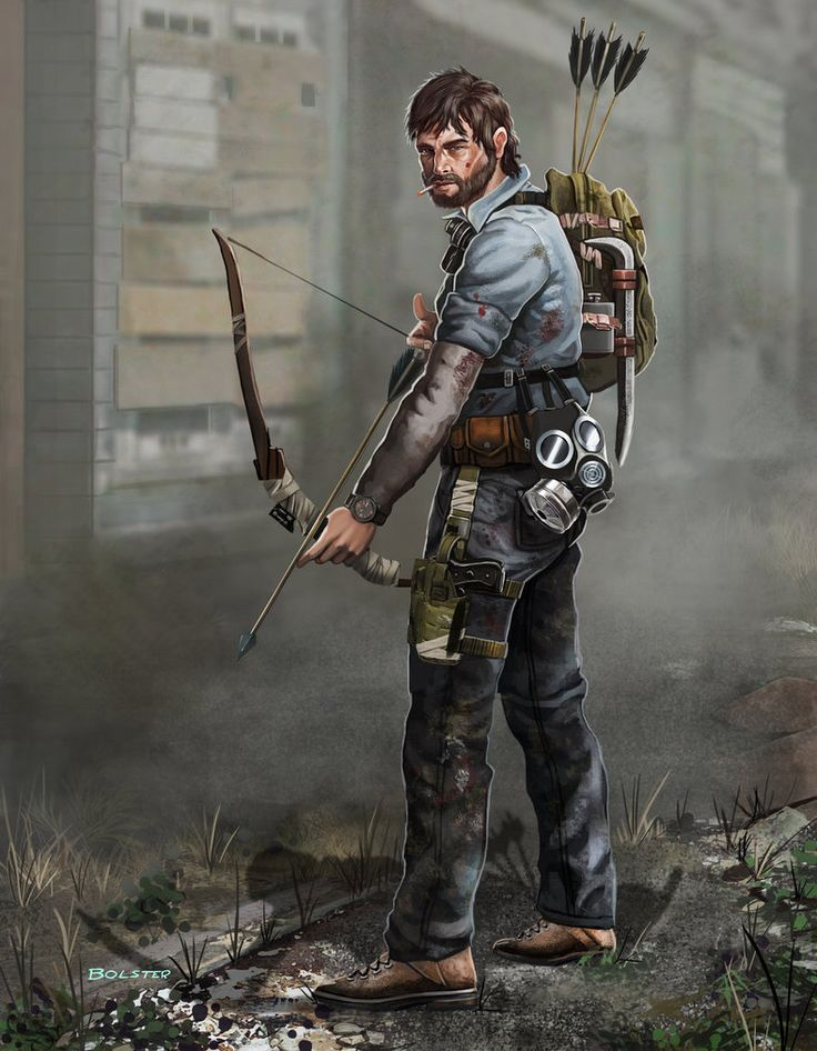 """I've been watching """"The Walking Dead"""", as well as """"Z nation"""" and i loved """"The Last of Us"""", so making some zombie apocalypse art was inevitable. I wanted to design some zombie apocalypse survivor ty..."""