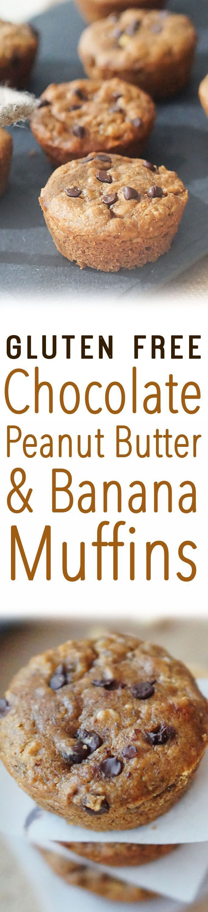 These gluten free dairy-free muffins satisfy every peanut butter/banana/chocolate lover (this girl!), yet are surprisingly low in sugar and incredibly satisfying.