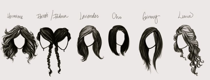 potter hair. Love hermione and Luna's