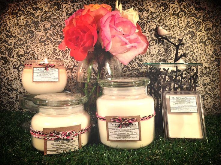 Dr Bob's Apothecary Black Rose & Oud Collection  Premium Handpoured Scented Soy Candles  www.drbobs.com.au