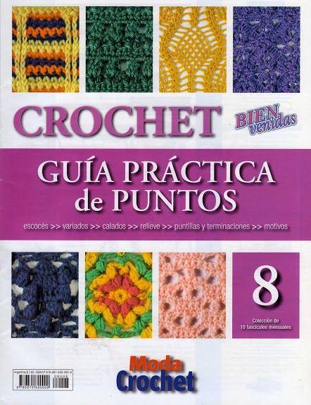 Revistas de manualidades Gratis: Revista de crochet Guía de práctica de puntos