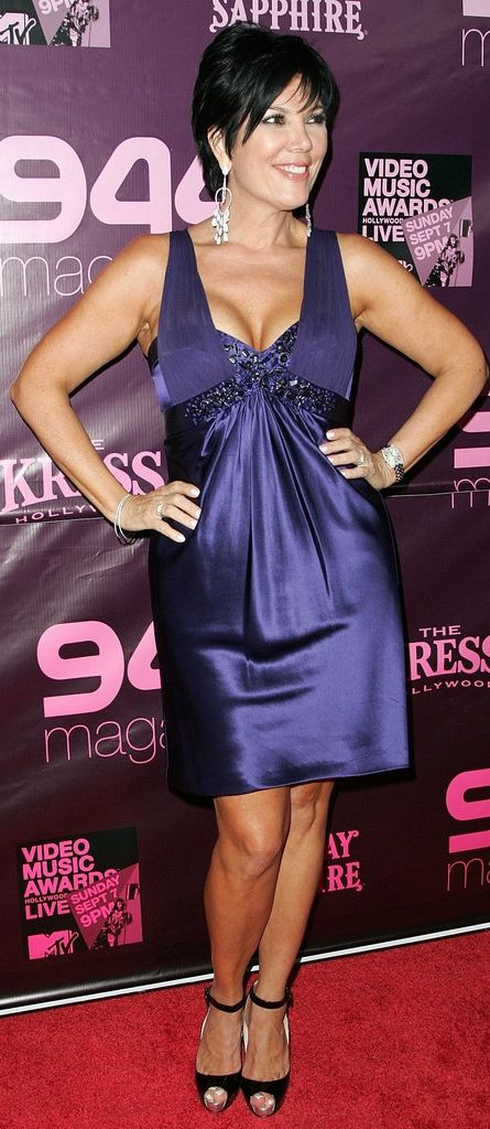 Remember when Kris Jenner showed off this much cleavage in a purple satin dress on the red carpet?