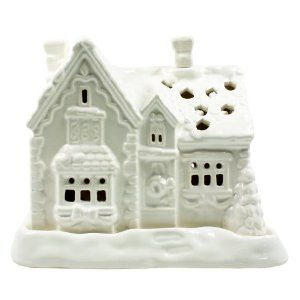 "Porcelain White Christmas Cottage Tealight Candle Holder: Comes With 4 Tealight Candles by B&G. Save 33 Off!. $19.95. Comes with 4 tea light candles.. Comes in an attractive red gift box set.. Holds up to 2 tea light candle.. Measures 5.5"" L x 5"" H.. Glossy finish porcelain.. Porcelain White Christmas Cottage Tealight Candle Holder: Comes With 4 Tea light Candles. Glossy finish porcelain. Holds up to 2 tea light candle. Comes with 4 tea light candles. Comes in an attractive red..."