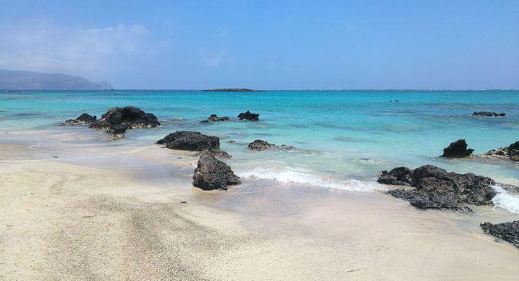 Playa de Elafonisi, suroeste de Creta, región de Chaniá