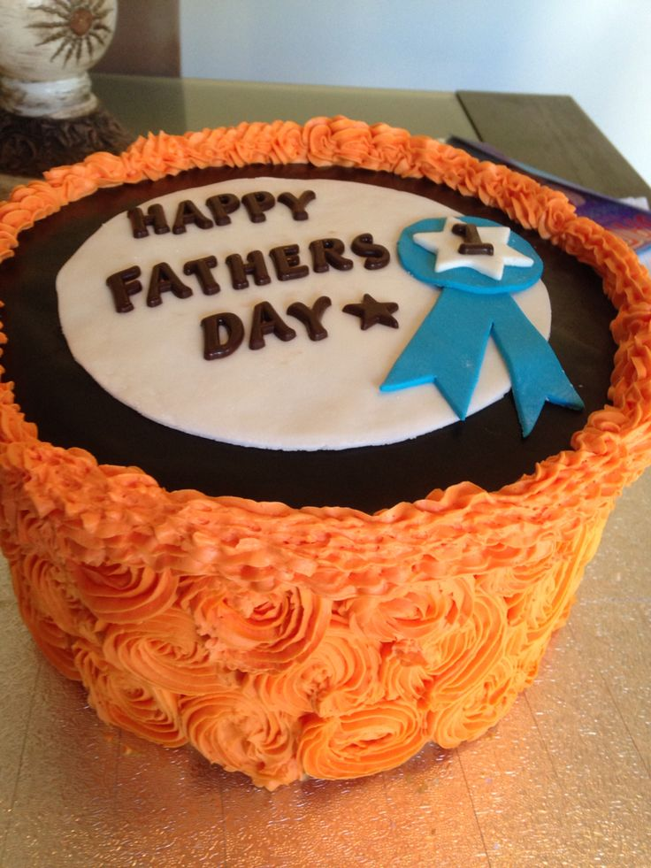 Father's Day cake! Fondant and buttercream.