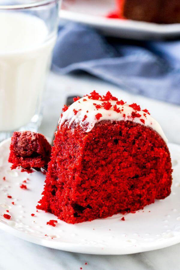 Red Velvet Bundt Cake Recipe In 2020 Red Velvet Bundt Cake Valentines Recipes Desserts Bundt Cake