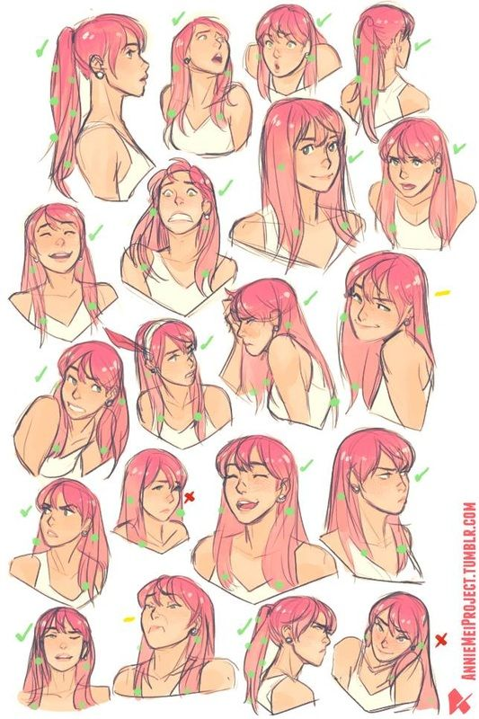 Category: Character Lineup - Character Design Page Facial expressions
