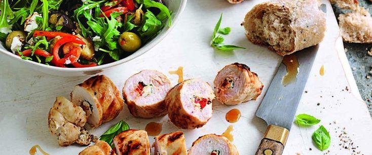 Chicken, feta & basil involtini – Recipe courtesy of Healthy Food Guide magazine