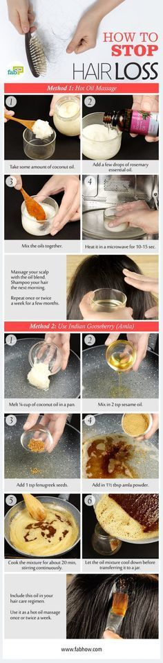 How to stop hair loss naturally. Here are 5 methods that work with pictures and step-by-step instructions.