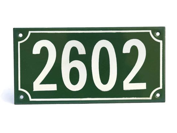 French House Door Address Number 2602. French by LeBonheurDuJour