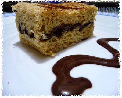 Recetas Dukan - Dukansusi: Bizcocho Dukan de almendras con chocolate ( Microondas)