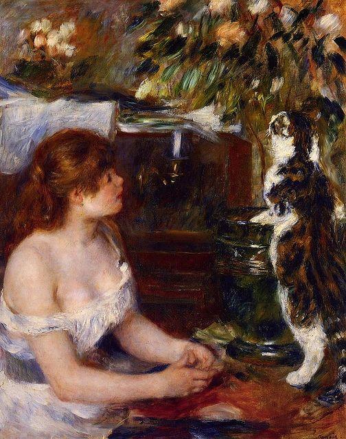 Pierre-Auguste Renoir (1841-1919) - La jeune fille au chat, 1879