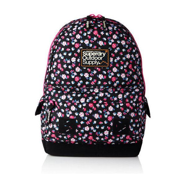 Superdry Dewberry Montana Rucksack (76 CAD) ❤ liked on Polyvore featuring bags, backpacks, black, superdry, zipper bag, logo bags, rucksack bag and knapsack bag