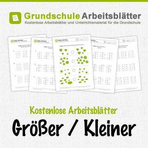 Kostenlose Arbeitsblätter und Unterrichtsmaterial zum Thema Größer / Kleiner im Mathe-Unterricht in der Grundschule.