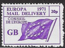 UK Cinderella Strike stamp: 1971 Europa Mail Delivery GB, Conseil 20p (dw528)