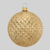 70mm Gold Pineapple Matt with Glitter Bauble  Code: BADE007GOPIAPPM