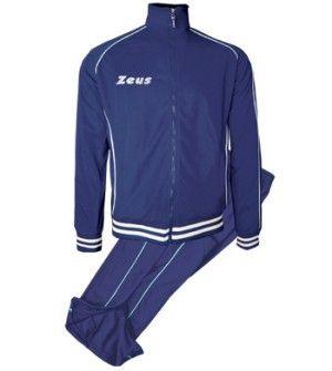 Kék-Fehér Zeus Shox Utazó Melegítő Szett lágy, puha, kényelmes, nadrágrész térdig cipzáros, klasszikus, de mégis enyhén karcsúsított vonalvezetésű. Kopásálló, tartós, könnyen száradó a Zeus Shox melegítő. A teljes korosztály számára, ideális a hímzett feliratú melegítő. Kék-Fehér Zeus Shox Utazó Melegítő Szett 8 méretben és további 6 színkombinációban érhető el.