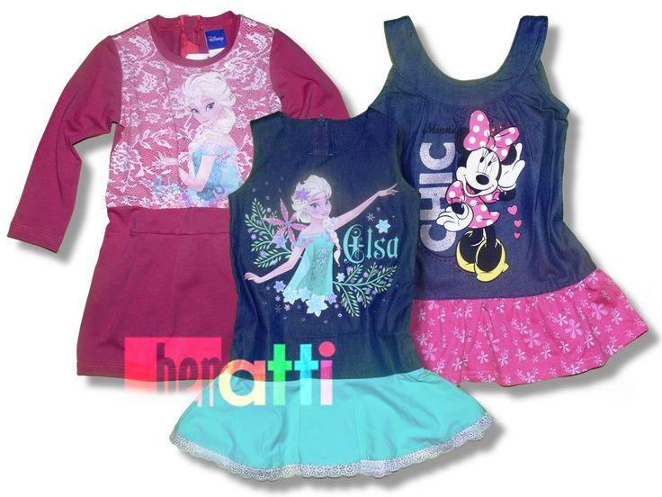 Dievčenské šaty s postavičkami od Disney a veľa ďalších obľúbených motívov. Vyrobené v EU.