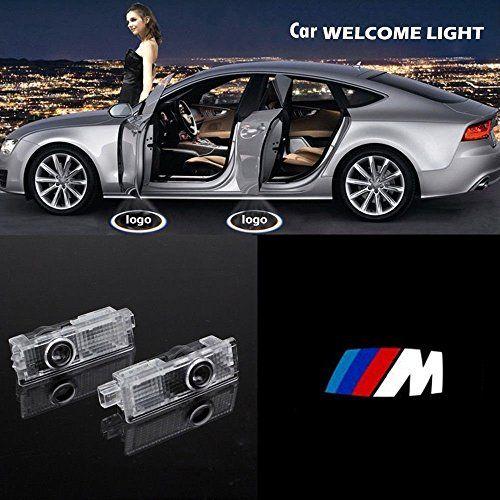 THG 4 x Luz de bienvenida del nuevo logotipo del coche del estilo, luz de cortesía para la puerta del coche -- /// M #bienvenida #nuevo #logotipo #coche #estilo, #cortesía #para #puerta