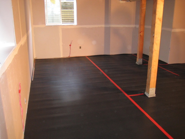 New Basement Subfloor Tiles