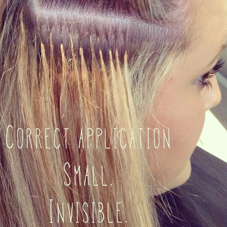 Correct #hair #extension application. Small. Invisible ...