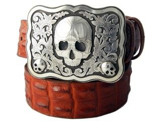 Silver skull Buckle by Richard Stump for Tom Taylor.