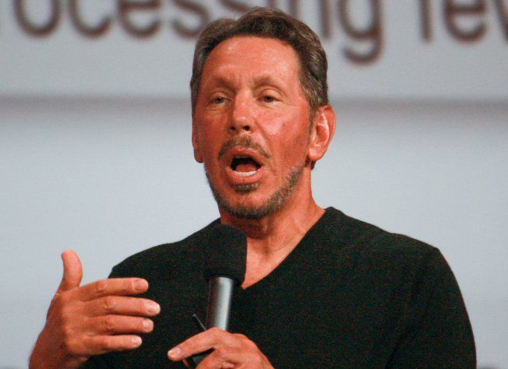 Larry Ellison Est. Net Worth: $56 billion Source of Fortune: Oracle Corporation Education: Dropped out of University of Illinois at Urbana-Champaign Interesting Fact: His last name comes from his adoptive father (who raised him), who changed his own last name to name himself after Ellis Island.