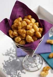 Caramel Puff Corn.  Super addictive.  Be careful.  Unhealthy eating.