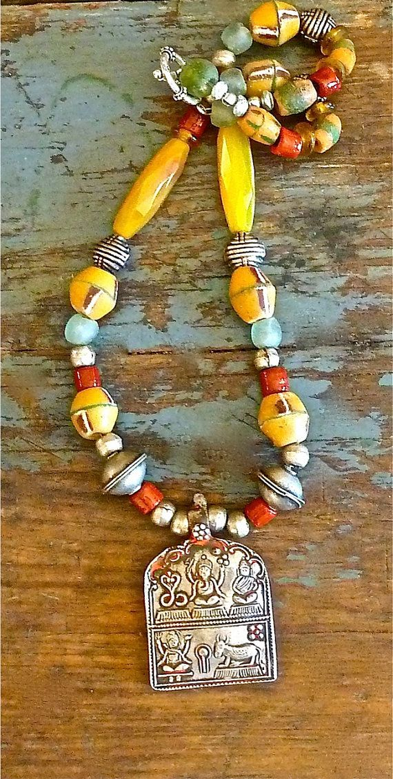 Boho Necklace  Tribal Necklace   The Joy Moos Collection 2013