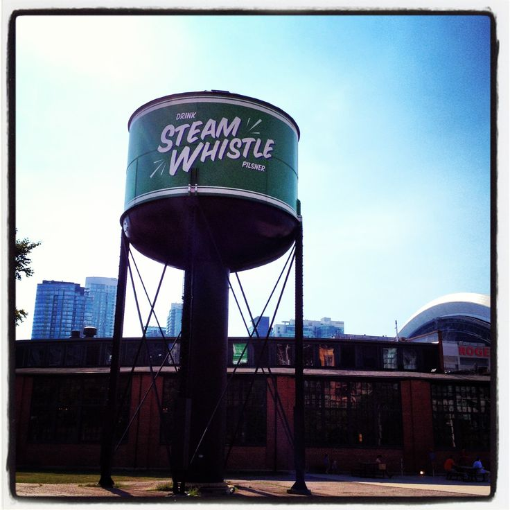 The Steam Whistle Brewery near Roundhouse Park in Dowtown Toronto.