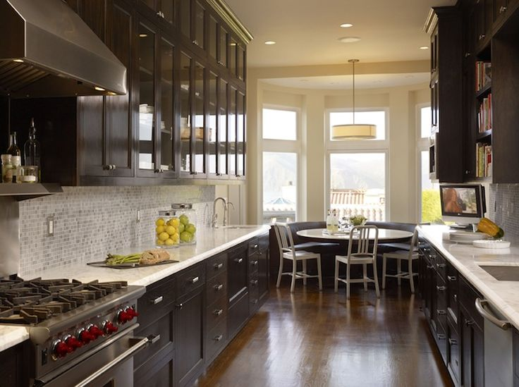 Suzie artistic designs for living amazing galley for Chocolate brown kitchen designs