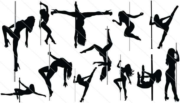 Pole Dancer Silhouette Vector (12)