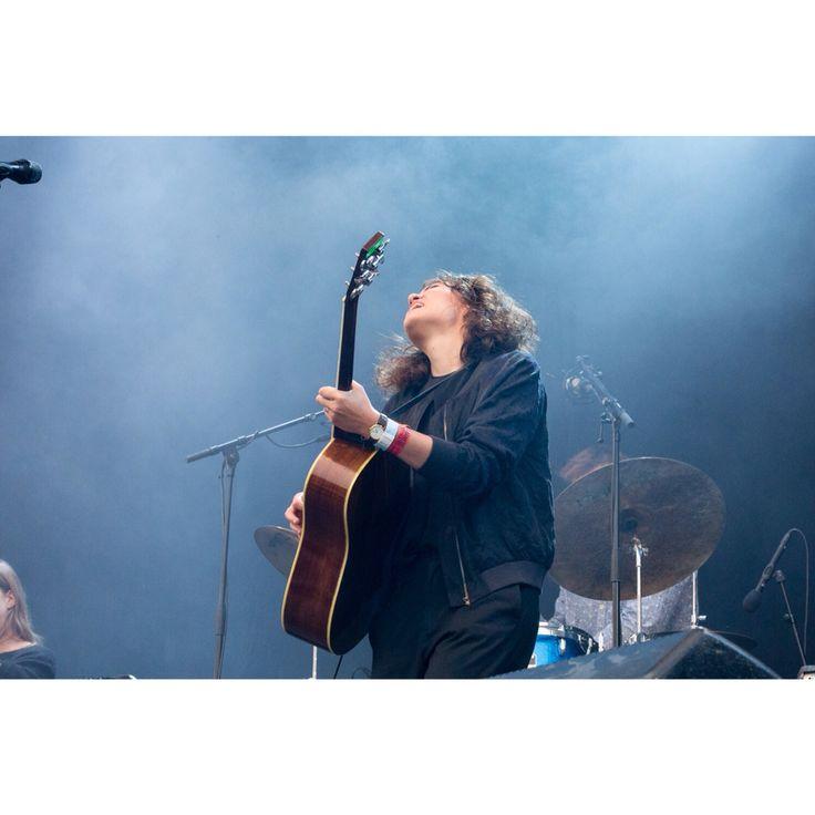 Fay Wildhagen. Performing live at Månefestivalen. Fredrikstad.