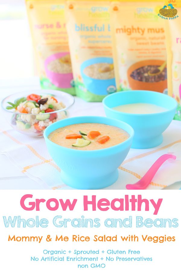 Grow Healthy Whole Grains And Beans Baby Food Recipe Baby Food Recipes Whole Grain Healthy