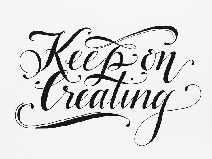 Keep on creating!