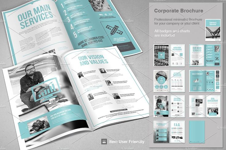 Corporate Brochure by TypoEdition on @creativemarket