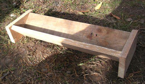 Wooden Trough Chicken Feeder Eco Friendly Large Design