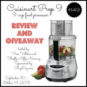Cuisinart Food Processor Giveaway - Gator Mommy Reviews