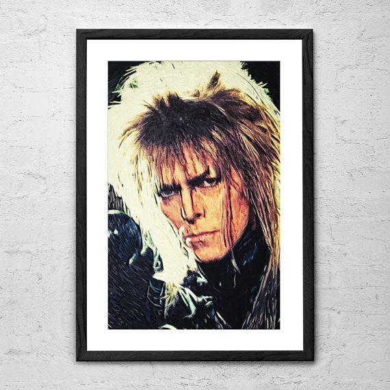Jareth David Bowie Labyrinth Movie by TaylanSoyturkFineArt on Etsy
