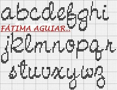 Cross-stitch Cursive Lowercase ABCs...   lr2.jpg 400×308 pixel