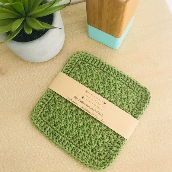 Crochet Wash Cloth Eco Wash Cloth 100 Cotton Kitchen Washing Clothes Crochet Washcloth Clean Sink